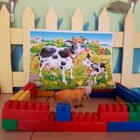 Заборчик для коровы с теленком🐄🐮