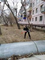 Субботник на территории Локомотивного